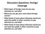 discussion questions foreign coverage