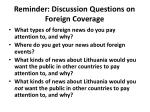 reminder discussion questions on foreign coverage