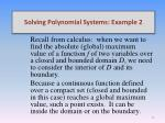 solving polynomial systems example 22