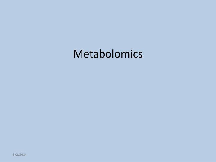 metabolomics n.