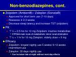 non benzodiazepines cont