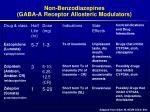 non benzodiazepines gaba a receptor allosteric modulators