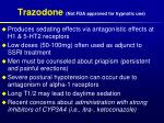 trazodone not fda approved for hypnotic use