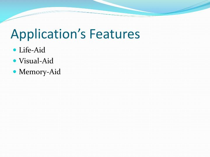 Application's Features