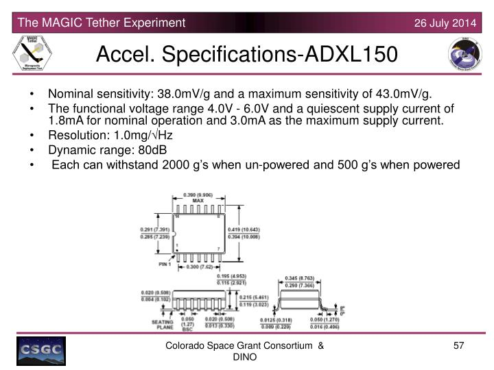 Accel. Specifications-ADXL150