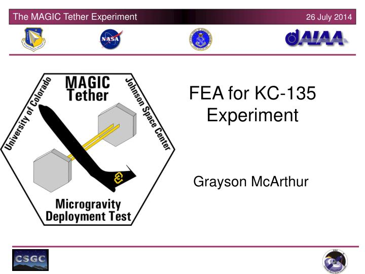 FEA for KC-135 Experiment