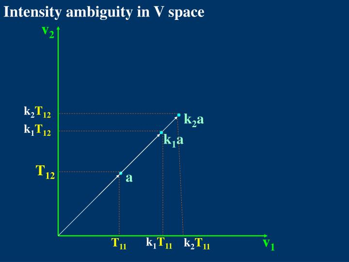 Intensity ambiguity in V space