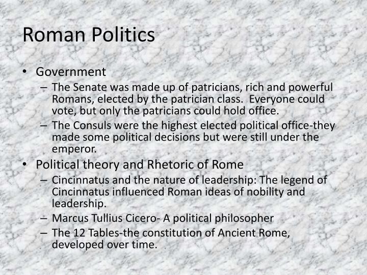 Roman Politics