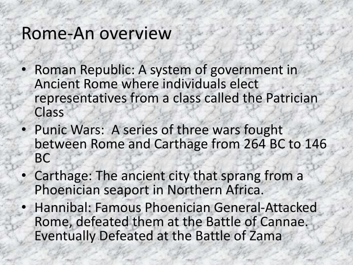 Rome an overview