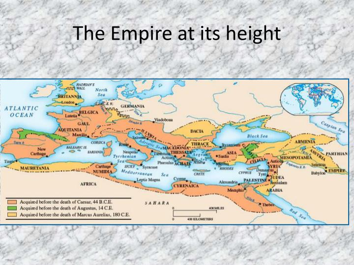 The Empire at its height