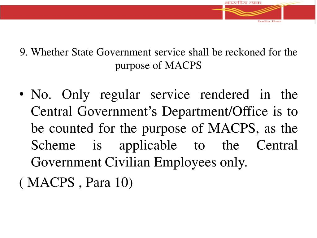PPT - Important clarifications regarding MACP Scheme