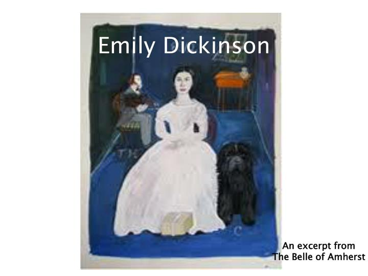 "a comparative essay on the works of emily dickinson The opening line ""tell all the truth but tell it slant"" is the same as that of the title emily dickinson does this because she wants the reader to realism that the poem's main idea is that truth is stated indirectly toward us."