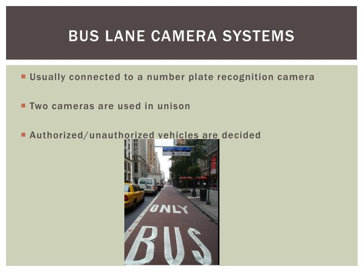 Bus lane camera systems