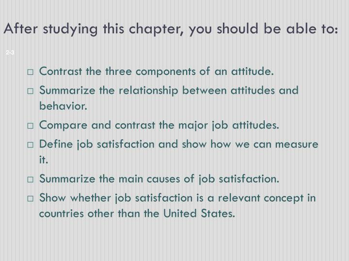 major job attitude
