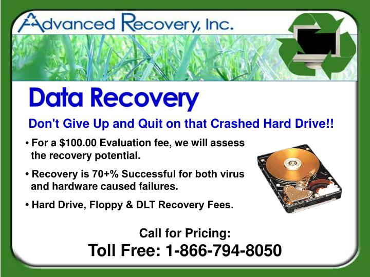 Don't Give Up and Quit on that Crashed Hard Drive!!