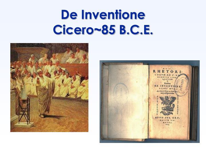 De inventione cicero 85 b c e