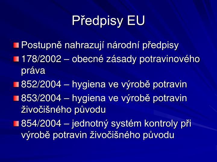 Předpisy EU