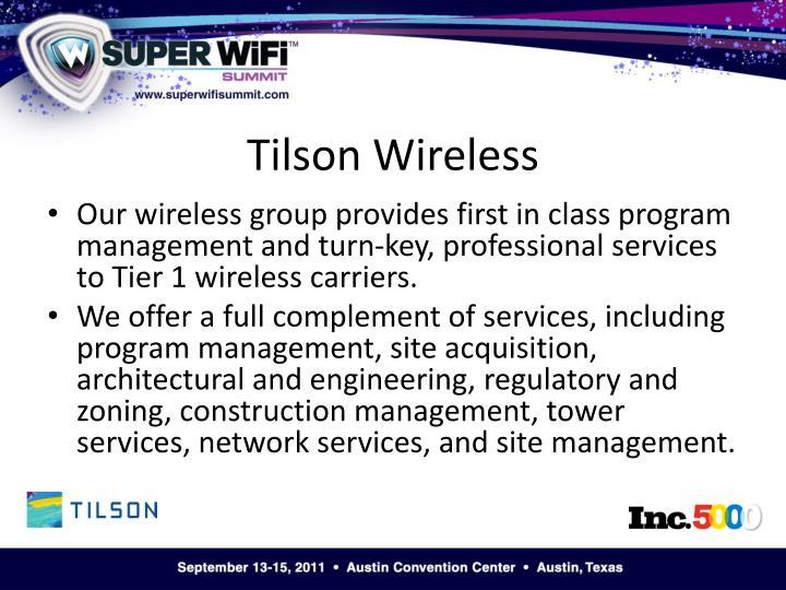 Tilson wireless