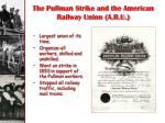 the pullman strike and the american railway union a r u