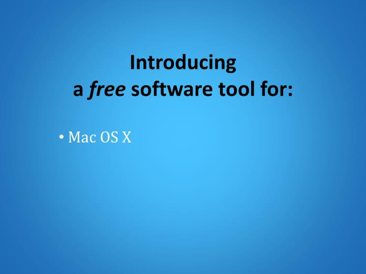 introducing a free software tool for n.