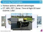scanning technologies
