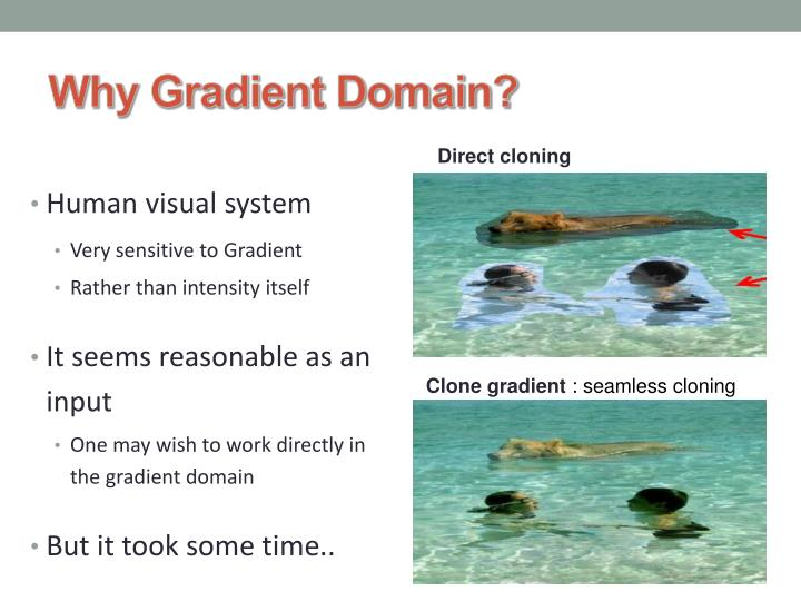 Why gradient domain