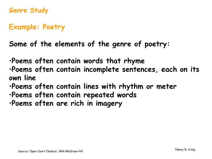 Genre Study