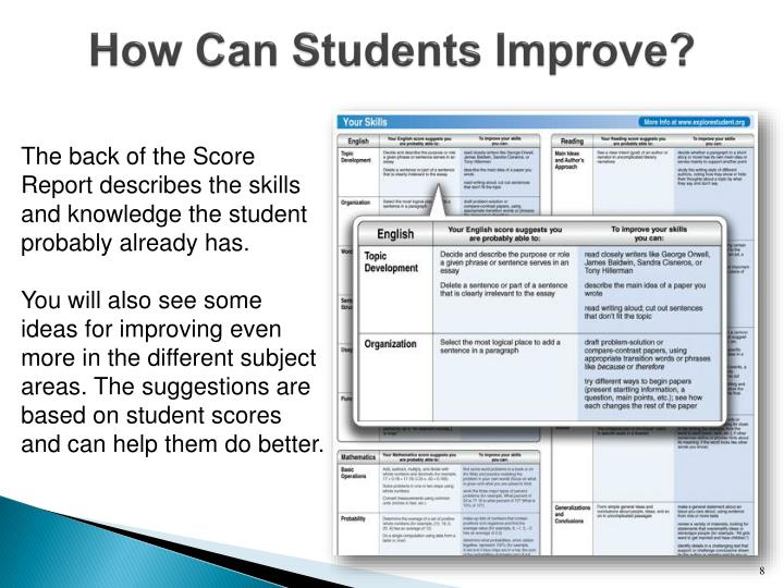 How Can Students Improve?