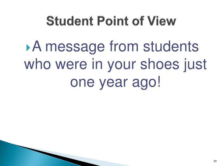 Student Point of View