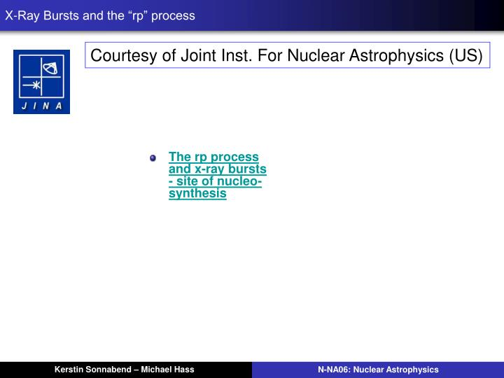 """X-Ray Bursts and the """"rp"""" process"""