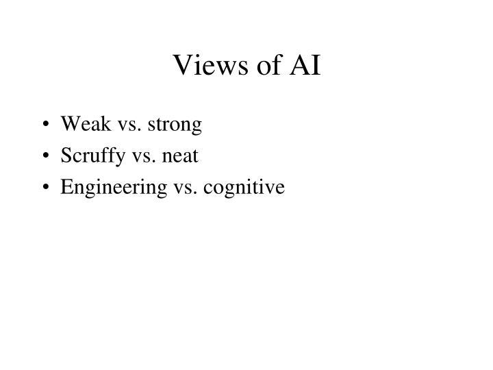 Views of AI