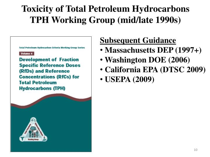 Toxicity of Total Petroleum Hydrocarbons