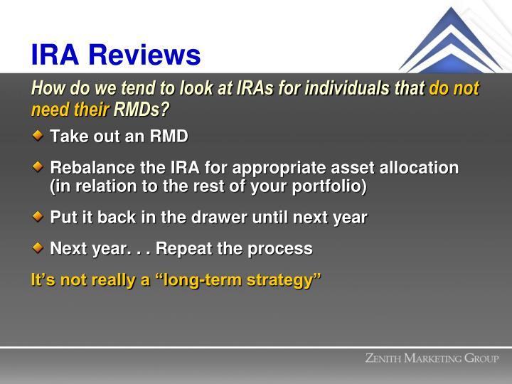 IRA Reviews