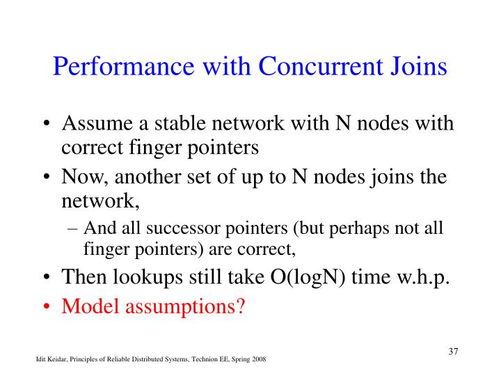 Performance with Concurrent Joins