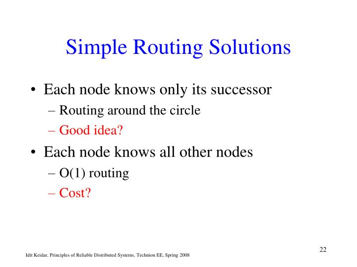 Simple Routing Solutions