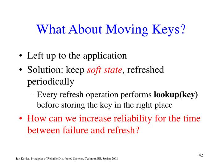 What About Moving Keys?