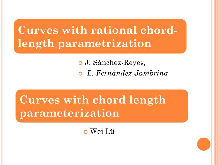 Curves with rational chord-length parametrization