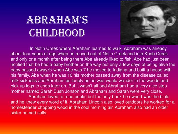 Abraham s childhood