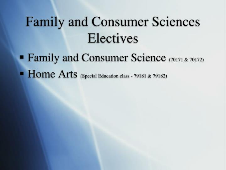 Family and Consumer Sciences Electives