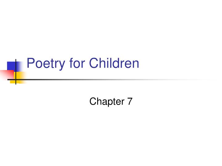 poetry for children n.