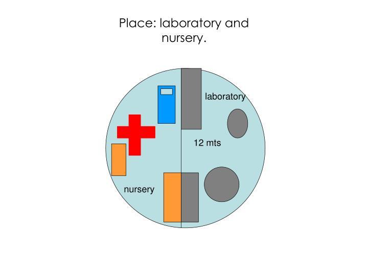 Place: laboratory and nursery.