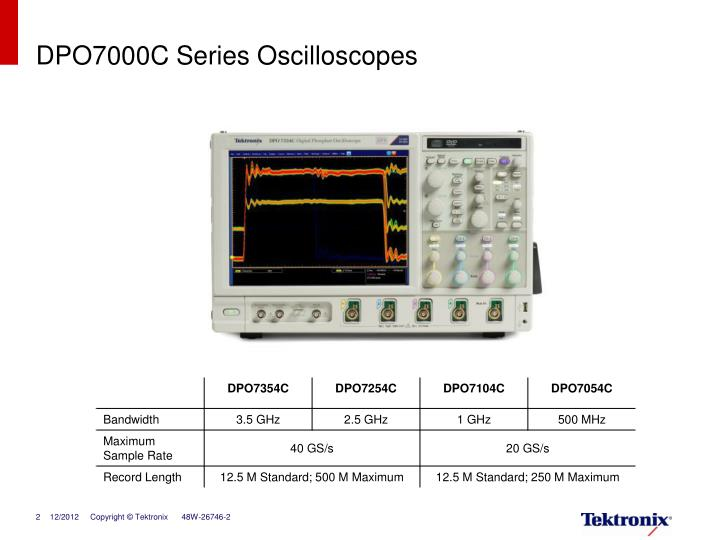 Dpo7000c series oscilloscopes1
