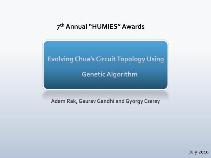 Evolving chua s circuit topology using genetic algorithm