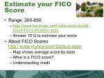 estimate your fico score