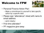 welcome to fpw