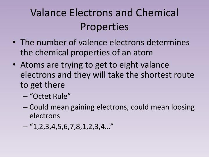 Valance Electrons and Chemical Properties