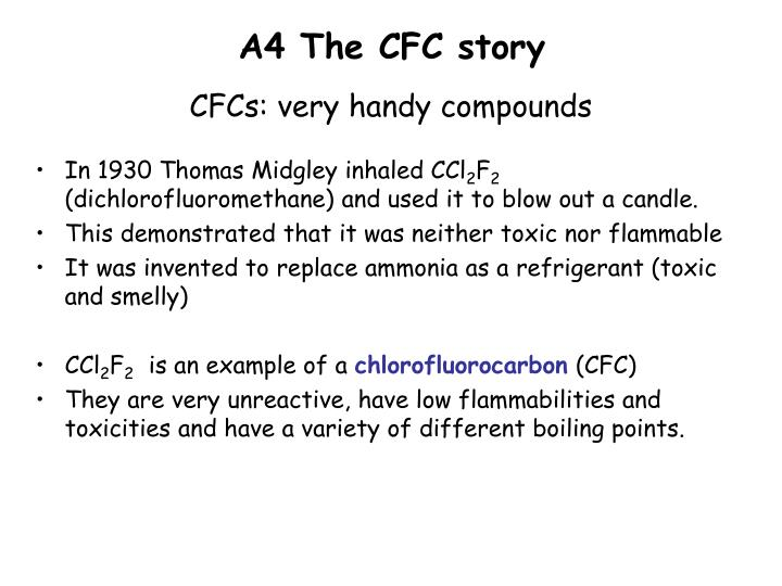 A4 The CFC story