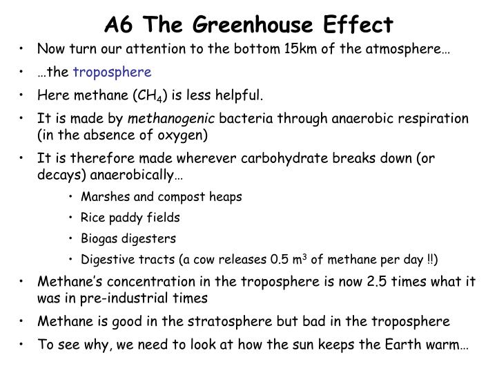 A6 The Greenhouse Effect