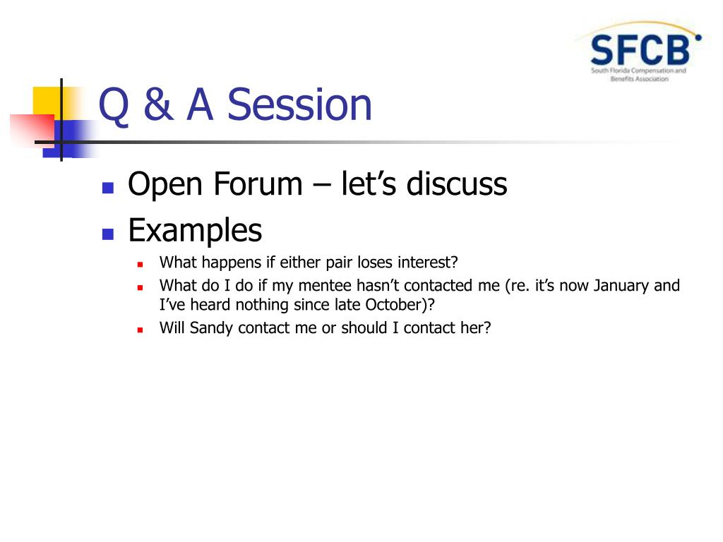 PPT - 2007-08 SFCB Mentor/Mentee Kickoff Meeting PowerPoint