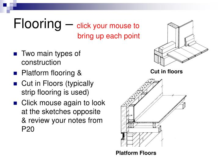Flooring click your mouse to bring up each point